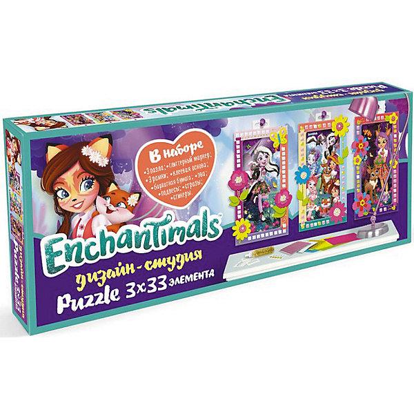 Набор пазлов Enchantimals В лесу, 33 элементаПазлы для малышей<br>Характеристики товара:<br><br>• возраст: от 3 лет;<br>• материал: картон, пластик;<br>• количество элементов: 33;<br>• размер упаковки: 29х11х4 см;<br>• вес упаковки: 180 гр.;<br>• страна бренда: Россия.<br><br>Набор пазлов Enchantimals В лесу позволит весело провести время с любимыми героями.<br><br>После сборки красочных пазлов можно воплотить все свои творческие фантазии украшая рамку.<br><br>Набор пазлов Enchantimals В лесу можно купить в нашем интернет-магазине.<br>Ширина мм: 290; Глубина мм: 35; Высота мм: 115; Вес г: 180; Цвет: разноцветный; Возраст от месяцев: 36; Возраст до месяцев: 2147483647; Пол: Женский; Возраст: Детский; SKU: 8596850;