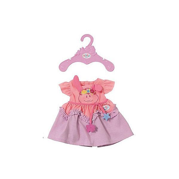 Zapf Creation Платье для куклы BABY born, розово-сиреневое