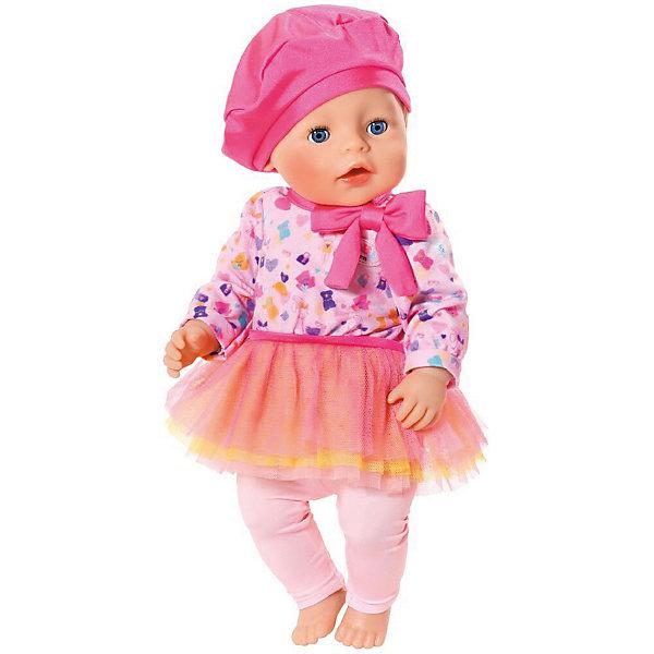 Zapf Creation Одежда для куклы BABY born В погоне за модой, розового цвета