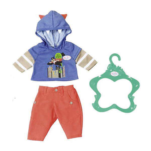 Zapf Creation Одежда для мальчика BABY born оранжево-синяя