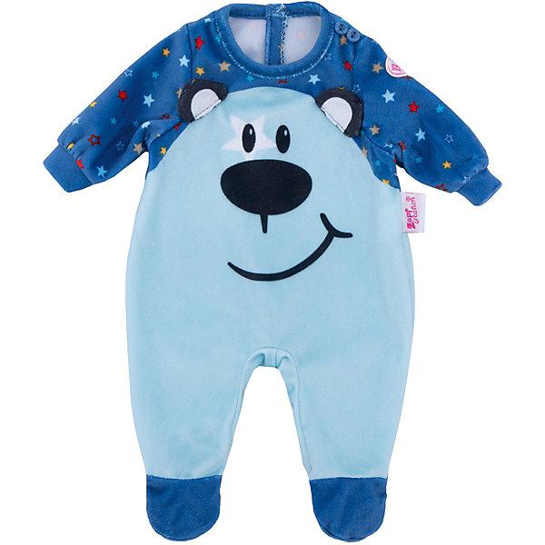 Zapf Creation Комбинезончик BABY born для куклы, голубой куклы и одежда для кукол zapf creation baby annabell памперсы 5 штук