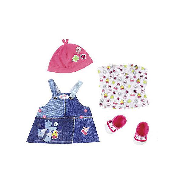 Zapf Creation Одежда для куклы BABY born Джинсовая коллекция, платье куклы и одежда для кукол defa кукла lucy модная вечеринка с расческой арт 8226