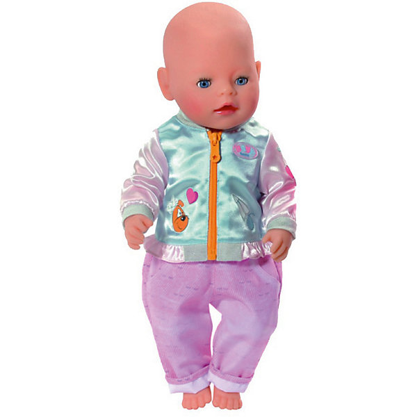 Zapf Creation Штанишки и кофточка для прогулки BABY born, голубо-розовые кофточка flexi