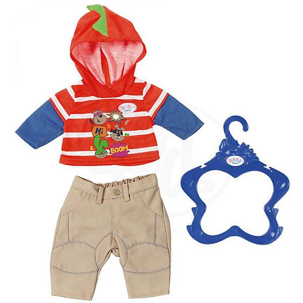 куклы и одежда для кукол asi одежда для кукол 60 см 0000092 Zapf Creation Одежда для мальчика BABY born оранжево-бежевая