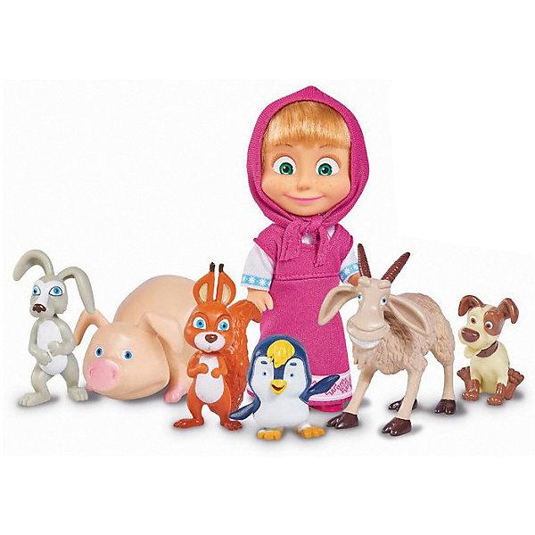 Simba Игровой набор Simba Маша и Медведь - Маша с друзьями-животными, 12 см simba машинка сортер с животными с 12 мес