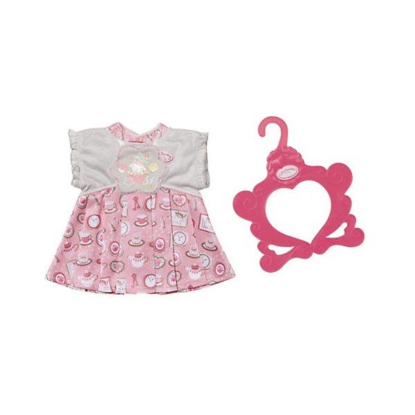 Zapf Creation Платье Baby Annabell бело - розовое аксессуары baby annabell памперсы для куклы baby annabell 5 шт