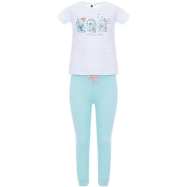 Пижама Z Generation для девочкиПижамы и сорочки<br>Характеристики товара:<br><br>• цвет: голубой;<br>• комплектация: футболка, брюки;<br>• состав ткани: 100% хлопок;<br>• сезон: круглый год;<br>• короткие рукава;<br>• талия: резинка;<br>• страна бренда: Франция.<br><br>Мягкая пижама для детей от бренда Z Generation - это принтованная футболка с коротким рукавом и удобные брюки. Такая детская пижама сделана из качественной ткани, дышащей и приятной на ощупь. Пижама для ребенка отличается тщательной обработкой швов, которые не мешают и не натирают. В коллекциях одежды и обуви для детей от известного бренда Z Generation только качественные вещи, которые помогут ребенку приучаться одеваться модно и со вкусом. <br><br>Пижаму Z Generation (Зет Дженерейшен) для девочки можно купить в нашем интернет-магазине.