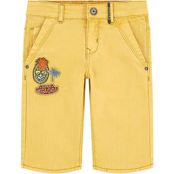 Шорты-бермуды Catimini для мальчикаШорты, бриджи, капри<br>Характеристики товара:<br><br>• цвет: желтый деним<br>• вид: для мальчика<br>• состав ткани: 98 % Хлопок 2% Эластан<br>• сезон: лето<br>• особенности модели: бермуды<br>• пояс: на шнурке, на пуговице<br>•  ширинка на молнии<br>• карманы<br>• джинсовый стиль<br>•  фирменная лейба сзади <br>• страна бренда: Франция<br><br>Детские шорты-бермуды с эффектом деним обеспечат ребенку комфорт, благодаря продуманному крою. Сделаны из натурального качественного материала и в красивом ярком цвете, помогут создать большое количество образов. Размер регулируется благодаря резинке. Детские шорты комфортно сидят, не вызывают неудобств. <br><br>Бренд Catimini  (Кантимини) - это стильный продуманный дизайн и неизменно высокое качество исполнения. Парадуйте свою малышку яркими шортиками для активных летних прогулок.<br><br>Шорты-бермуды Catimini  (Кантимини) для мальчика можно купить в нашем интернет-магазине.<br>Ширина мм: 191; Глубина мм: 10; Высота мм: 175; Вес г: 273; Цвет: желтый; Возраст от месяцев: 24; Возраст до месяцев: 36; Пол: Мужской; Возраст: Детский; Размер: 98,122,116,110,140,104,128; SKU: 8597093;