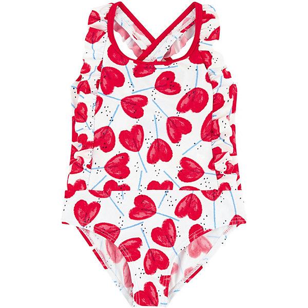 Купить Купальный костюм Catimini для девочки, Китай, белый, 104, 140, 158/164, 116, 98, 152, 122, 110, 86, 128, Женский