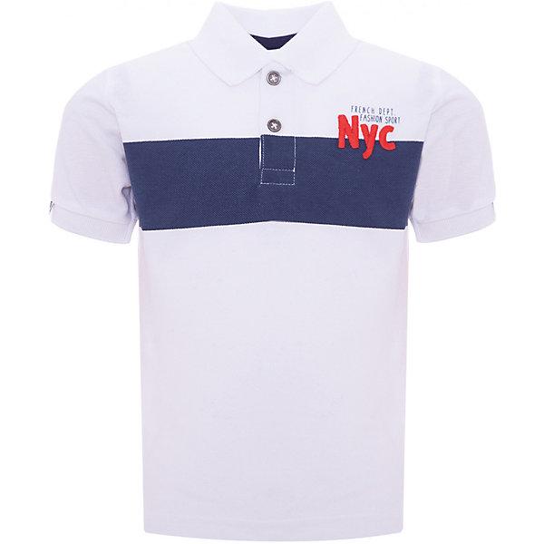 Рубашка-поло Z Generation для мальчикаБлузки и рубашки<br>Характеристики товара:<br><br>• цвет: белый;<br>• состав ткани: 100% хлопок;<br>• сезон: лето;<br>• застежка: пуговицы;<br>• короткие рукава;<br>• страна бренда: Франция.<br><br>Рубашка-поло для ребенка - стильная и универсальная деталь детского гардероба. Хлопковая детская рубашка-поло с коротким рукавом сделана из натурального материала - дышащей ткани, которая отлично подходит для ношения детьми. Такая рубашка-поло для детей отличается хорошим качеством: все её швы тщательно проработаны. Детские товары от известного французского бренда Z Generation известны модным дизайном в европейском стиле и доступными ценами.<br><br>Рубашку-поло Z Generation (Зет Дженерейшен) для мальчика можно купить в нашем интернет-магазине.