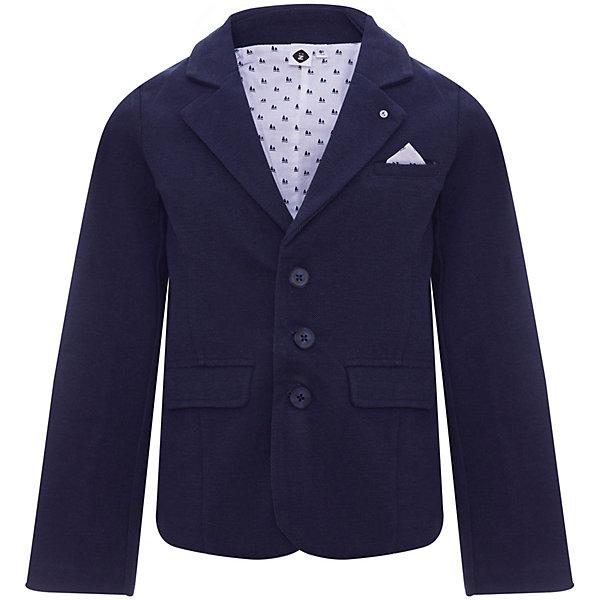 Пиджак Z Generation для мальчикаКостюмы и пиджаки<br>Характеристики товара:<br><br>• цвет: синий;<br>• состав ткани: 62% хлопок, 38% полиэстер;<br>• сезон: круглый год;<br>• особенности модели: школьная;<br>• застежка: пуговицы;<br>• длинные рукава;<br>• страна бренда: Франция.<br><br>Этот пиджак для детей смотрится аккуратно и отражает французское происхождение модели. Такой детский пиджак - отличный вариант удобной базовой вещи для детей, которая создает комфортные условия, не вызывает аллергии. Пиджак для ребенка стильно выглядит, она отличается классическим силуэтом, наличием удобных застежек. Продукция от популярного французского бренда Z Generation - это качественные и модные вещи для детей различных возрастов. <br><br>Пиджак Z Generation (Зет Дженерейшен) для мальчика можно купить в нашем интернет-магазине.<br>Ширина мм: 356; Глубина мм: 10; Высота мм: 245; Вес г: 182; Цвет: голубой; Возраст от месяцев: 12; Возраст до месяцев: 15; Пол: Мужской; Возраст: Детский; Размер: 80,86,98,104,68,74; SKU: 8597205;