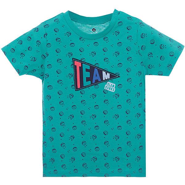 Футболка Z Generation для мальчикаФутболки, поло и топы<br>Характеристики товара:<br><br>• цвет: зеленый;<br>• состав ткани: 100% хлопок;<br>• сезон: лето;<br>• застежка: кнопки;<br>• короткие рукава;<br>• страна бренда: Франция.<br><br>Зеленая принтованная футболка для ребенка сделана из дышащего натурального хлопка, она снабжена удобными кнопками на плече. Детская футболка декорирована модным эффектным принтом. В коллекциях для детей от известного бренда Z Generation - только стильные вещи, которые добавят гардероб ребенка особый европейский шик. Хлопковая футболка для детей от бренда Z Generation - это стильный дизайн от французских специалистов и высокое качество проработки мельчайших деталей. <br><br>Футболку Z Generation (Зет Дженерейшен) для мальчика можно купить в нашем интернет-магазине.<br>Ширина мм: 199; Глубина мм: 10; Высота мм: 161; Вес г: 47; Цвет: зеленый; Возраст от месяцев: 6; Возраст до месяцев: 9; Пол: Мужской; Возраст: Детский; Размер: 74,104,98,86,68,58,80; SKU: 8598780;