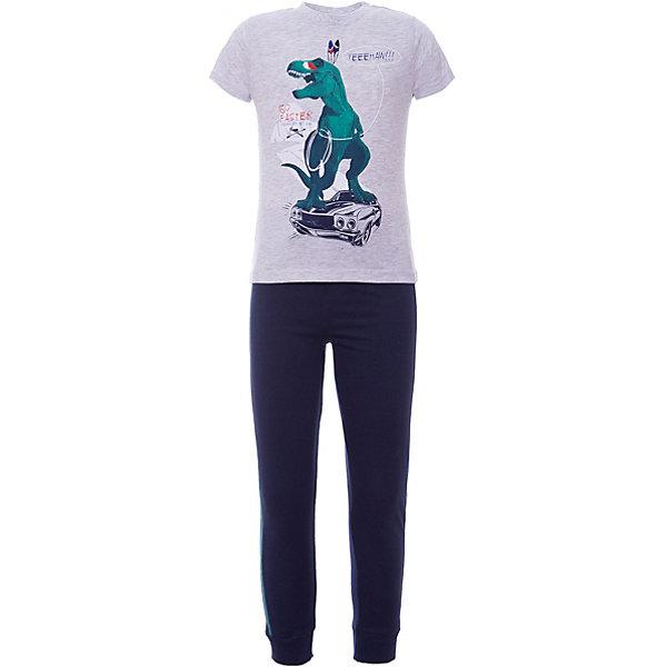 Пижама Z Generation для мальчикаПижамы и сорочки<br>Характеристики товара:<br><br>• цвет: голубой;<br>• комплектация: футболка, брюки;<br>• состав ткани: 100% хлопок;<br>• сезон: круглый год;<br>• короткие рукава;<br>• талия: резинка;<br>• страна бренда: Франция.<br><br>Эта пижама для детей состоит из двух вещей: футболки и брюк. Удобная детская пижама сделана из дышащей хлопковой ткани, которая не натирает и не вызывает аллергии, при этом позволяет телу дышать. Футболка от пижамы для ребенка декорирована принтом с динозавром. Товары от популярного французского бренда Z Generation - это качественные и модные вещи для детей различных возрастов. <br><br>Пижаму Z Generation (Зет Дженерейшен) для мальчика можно купить в нашем интернет-магазине.<br>Ширина мм: 281; Глубина мм: 70; Высота мм: 188; Вес г: 143; Цвет: голубой; Возраст от месяцев: 36; Возраст до месяцев: 48; Пол: Мужской; Возраст: Детский; Размер: 104,140,128,152/158,116,110,98,86; SKU: 8598809;