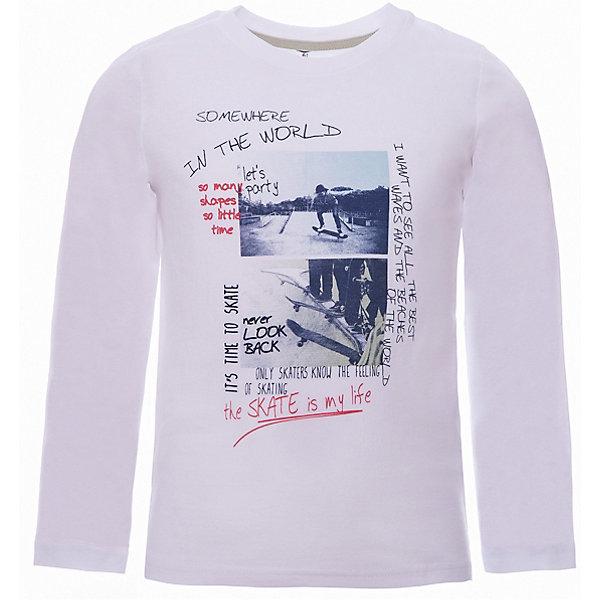 Футболка с длинным рукавом Z Generation для мальчикаФутболки с длинным рукавом<br>Характеристики товара:<br><br>• цвет: белый;<br>• состав ткани: 100% хлопок;<br>• сезон: демисезон;<br>• длинные рукава;<br>• страна бренда: Франция.<br><br>Принтованная детская футболка с длинным рукавом выполнена в белом цвете, который сочетается с любым другим оттенком. Хлопковый детский лонгслив - отличный вариант удобной базовой вещи для детей, которая создает комфортные условия, не вызывает аллергии. Этот лонгслив для ребенка стильно смотрится, он декорирован стильным принтом. Продукция от популярного французского бренда Z Generation - это качественные и модные вещи для детей различных возрастов.<br>Ширина мм: 199; Глубина мм: 10; Высота мм: 161; Вес г: 80; Цвет: белый; Возраст от месяцев: 36; Возраст до месяцев: 48; Пол: Мужской; Возраст: Детский; Размер: 104,110,140,152,128,158,98,86,116; SKU: 8598821;