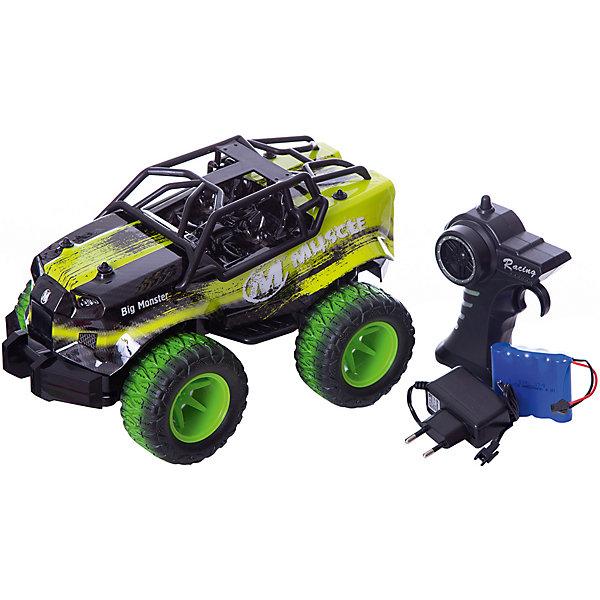 Радиоуправляемый монстр Taigen, 1:16, зеленыйРадиоуправляемые машины<br>Характеристики товара:<br>• возраст: от 8 лет;<br>• материал: пластик;<br>• в комплекте: машина, пульт 2.4G, аккумулятор, зарядное устройство, инструкция;<br>• наличие батареек: в комплект не входят;<br>• скорость машины: 12 км/час;<br>• масштаб: 1:16;<br>• размер машины: <br>• размер упаковки: <br>• вес упаковки: 1,24 кг;<br>• страна бренда: Китай.<br>Радиоуправляемый монстр YED1705 — джип на радиоуправлении с хорошими ходовыми характеристиками и развивающий высокую скорость до 20 км/час. У машины большие резиновые колеса, способные проходить самые сложные участки дороги. Дифференциалы дополнительно позволяют без труда ездить по кочкам и бездорожью. Амортизаторы защищают от тряски и от повреждения при столкновении. Машинка оснащена триммером руля для выравнивания движения по прямой. Пульт пистолетного типа удобно сидит в руке и позволяет управлять машинкой на дистанции до 60 метров.<br>Ширина мм: 380; Глубина мм: 220; Высота мм: 220; Вес г: 1240; Цвет: зеленый; Возраст от месяцев: 96; Возраст до месяцев: 2147483647; Пол: Мужской; Возраст: Детский; SKU: 8598851;