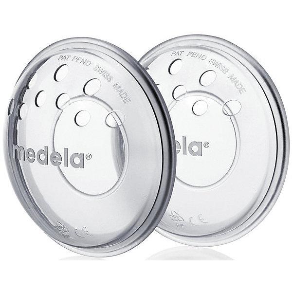 Medela Накладка на грудь защитная вентилируемая Medela 2 шт. наклади на соски силиконовые защитные большие 2шт chicco для груди
