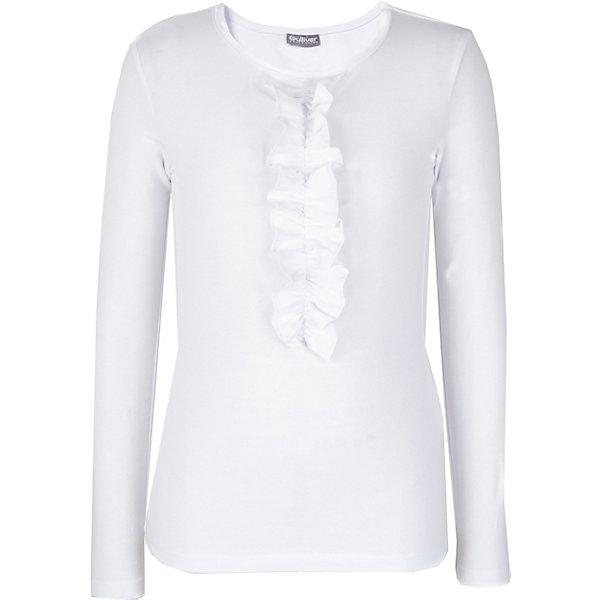Купить Блуза Gulliver для девочки, Китай, белый, 140, 158, 146, 164, 128, 122, 134, 170, 152, Женский