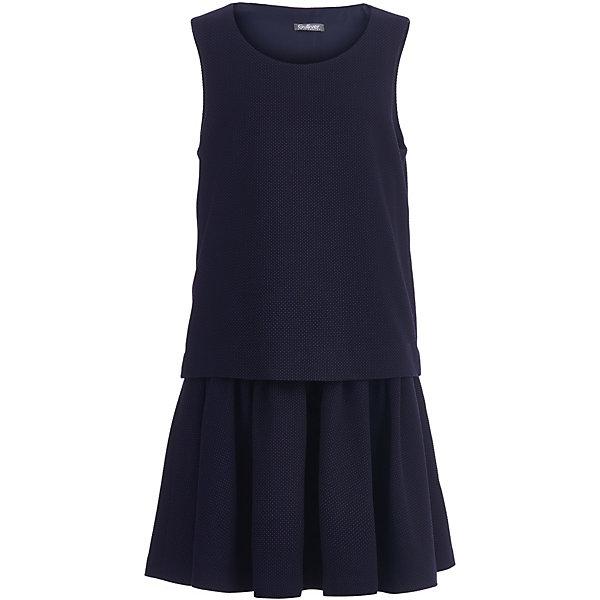 Купить Платье Gulliver для девочки, Китай, синий, 128, 164, 146, 140, 158, 170, 134, 122, 152, Женский