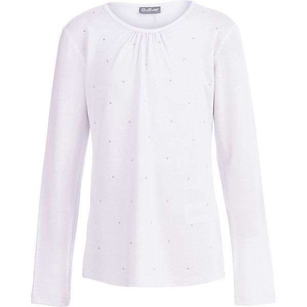 Купить Блуза Gulliver для девочки, Китай, белый, 170, 158, 140, 122, 146, 152, 134, 164, 128, Женский