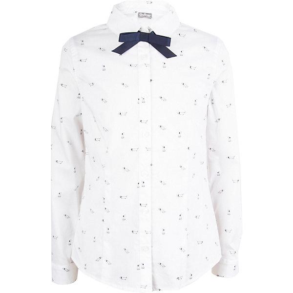 Купить Блуза Gulliver для девочки, Китай, белый, 140, 128, 170, 134, 122, 164, 146, 152, 158, Женский