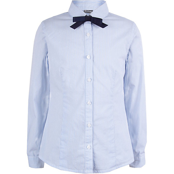 Купить Блуза Gulliver для девочки, Китай, голубой, 140, 158, 164, 128, 134, 170, 146, 122, 152, Женский