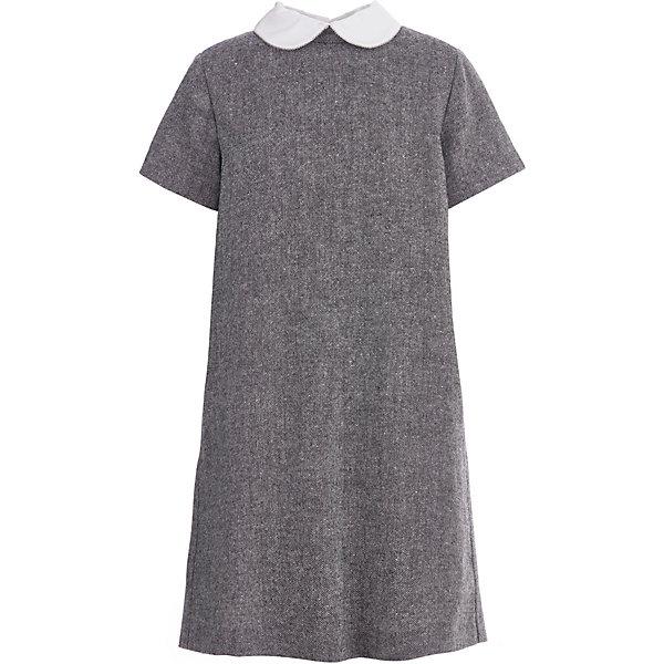 Купить Платье Gulliver для девочки, Китай, серый, 128, 122, 146, 170, 134, 164, 152, 158, 140, Женский