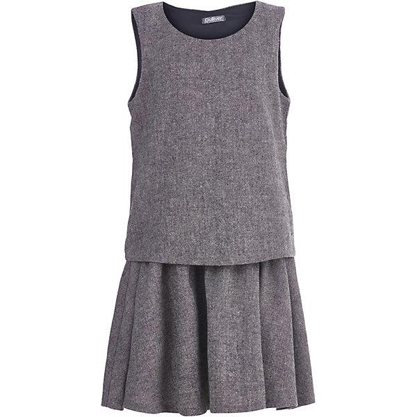 Купить Платье Gulliver для девочки, Китай, серый, 140, 158, 146, 152, 164, 170, 128, 122, 134, Женский