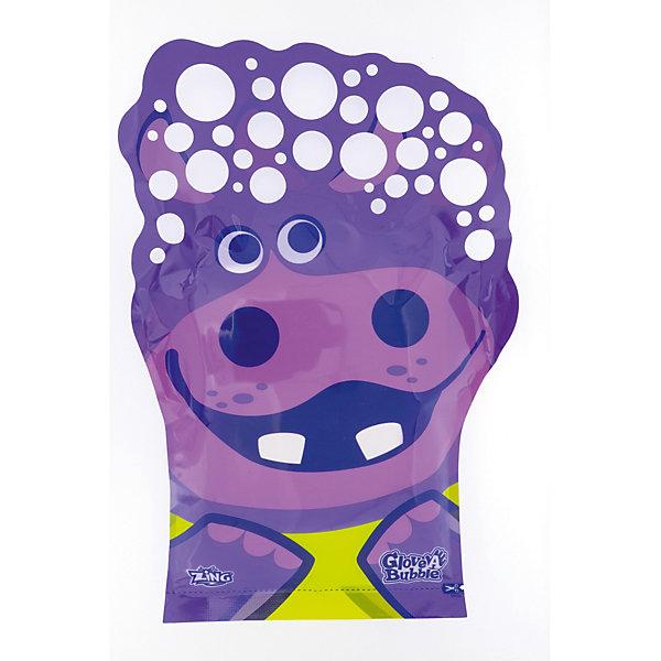 Glove-A-Bubbles Набор для запуска мыльных пузырей Glove a Bubbles Гиппопотам