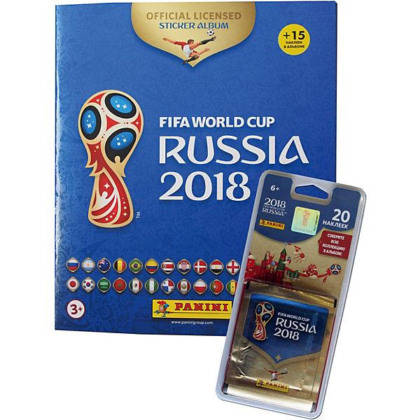Panini Альбом с 15 наклейками + 4 пакета по 5 наклеек Чемпионат Мира футболу FIFA 2018
