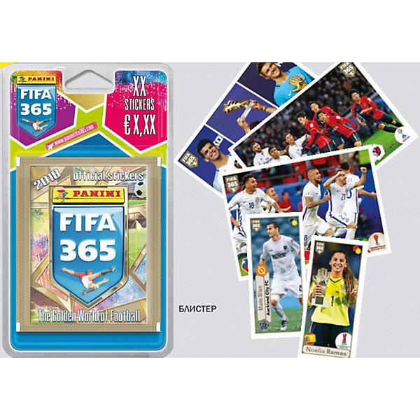 Блистер Panini FIFA 365-2018 (7 пакетиков по 5 наклеек)Panini<br>Характеристики:<br>• возраст: от 3 лет<br>• издательство: Panini, 2018 г.<br>• комплектация: 7 пакетиков по 5 наклеек;<br>• иллюстрации: цветные<br><br>Набор наклеек для всех любителей футбола и для тех, кто с нетерпением ждет начала главного события лета 2018 - ЧЕМПИОНАТ МИРА ПО ФУТБОЛУ FIFA 2018™.<br>Наклейки предназначены для вклеивания в тематический альбом.<br>Блистер Panini FIFA 365-2018 (7 пакетиков по 5 наклеек) наклеек можно купить в нашем интернет-магазине.<br>Ширина мм: 90; Глубина мм: 5; Высота мм: 210; Вес г: 50; Возраст от месяцев: 36; Возраст до месяцев: 2147483647; Пол: Унисекс; Возраст: Детский; SKU: 8606820;