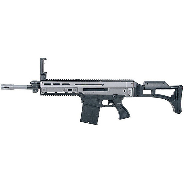 Автомат с дополненной реальностью Evoplay AR Gun, серыйИгрушечные пистолеты и бластеры<br>Характеристики товара:<br><br>• возраст: от 6 лет;<br>• материал: пластик;<br>• в комплекте: пистолет, инструкция;<br>• тип батареек: 2 батарейки АА;<br>• наличие батареек: в комплекте;<br>• размер оружия: 60х21х4 см;<br>• размер упаковки: 71х26х8 см;<br>• вес упаковки: 850 гр.<br><br>Оружие Evoplay AR Gun ARG-32 — увлекательный пистолет дополненной реальности. С его помощью можно окунуться в мир захватывающих сражений. Пистолет подключается к телефону при помощи Bluetooth. Для этого нужно скачать специальное приложение на телефон, подключить его к пистолету, выбрать игру и вступать в бой.<br><br>На экране телефона отображаются локации игры: здания, войска противника и другие элементы. Остается лишь наводить пистолет на врага и стрелять. Каждый раз при повороте оружия картинка на телефоне также двигается. <br><br>На пистолете есть зажим для крепления телефона. Смартфон должен быть оснащён гироскопом и акселерометром для правильного отображения дополненной реальности.<br><br>Оружие Evoplay AR Gun ARG-32 можно приобрести в нашем интернет-магазине.<br>Ширина мм: 710; Глубина мм: 80; Высота мм: 260; Вес г: 850; Цвет: разноцветный; Возраст от месяцев: 72; Возраст до месяцев: 2147483647; Пол: Мужской; Возраст: Детский; SKU: 8609236;