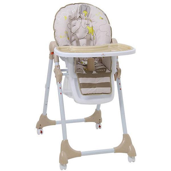 Polini-kids Стульчик для кормления Polini 470 Медвежонок Винни и его друзья Disney baby, макиато стульчик для кормления от 0 месяцев