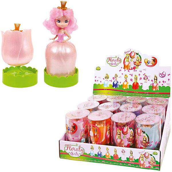 Куколка Floraly Girls в пластиковой тубеКуклы<br>Характеристики:<br><br>• возраст: от 3 лет<br>• комплектация: 1 кукла-трансформер<br>• особенности: шарнирный механизм, двигаются руки и голова, волосы прошиты, можно расчесывать<br>• размер: 8,5х14 см.<br>• материал: пластик<br>• упаковка: пластиковая туба<br>• в ассортименте: 6 кукол<br><br>ВНИМАНИЕ! Данный артикул представлен в разных вариантах исполнения. К сожалению, заранее выбрать определенный вариант невозможно. При заказе нескольких кукол возможно получение одинаковых<br><br>Кукла-трансформер «Floraly Girls» олицетворят весну. Кукла в пышном платье и короне превращается в очаровательный цветок. Процесс превращения занимает буквально несколько секунд.<br><br>Большеглазая красавица «Floraly Girls», непременно, приведет в восторг девочку и станет ее любимой игрушкой.<br><br>Кукла выполнена из качественного пластика. Имеет подвижные руки и голову. Волосы прошиты.<br><br>Куколку Floraly Girls в пластиковой тубе можно купить в нашем интернет-магазине.<br>Ширина мм: 80; Глубина мм: 80; Высота мм: 140; Вес г: 104; Цвет: разноцветный; Возраст от месяцев: 36; Возраст до месяцев: 120; Пол: Женский; Возраст: Детский; SKU: 8614038;