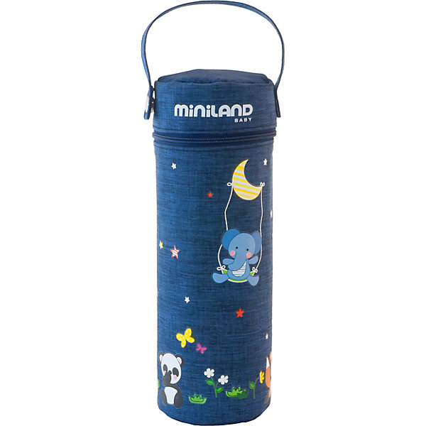 Купить Термосумка для бутылочек Miniland Denim 500 мл, Китай, синий, Унисекс