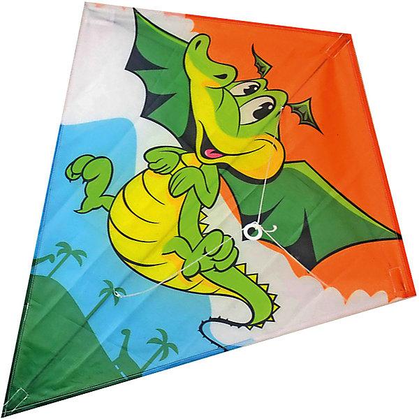 Воздушный змей X-Match Динозаврик, 60х70 смВоздушные игры<br>Характеристики:<br><br>• возраст: от 3 лет;<br>• материал: текстиль, пластик, металл;<br>• длина леера: 30 метров;<br>• размер купола: 60х70 см;<br>• вес упаковки: 90 гр.;<br>• размер упаковки: 12х2х70 см;<br>• страна бренда: Россия.<br><br>Воздушный змей X-Match имеет красочный дизайн и классическую форму. Легкий и маневренный змей взлетает высоко и быстро. Лучшие условия для запуска – небольшой ветер скоростью 10-20 метров в секунду и открытая местность. Воздушный змей управляется с земли с помощью длинного леера. Сделано из качественных материалов.<br><br>Воздушного змея «Динозаврик» можно купить в нашем интернет-магазине.<br>Ширина мм: 120; Глубина мм: 20; Высота мм: 700; Вес г: 90; Цвет: разноцветный; Возраст от месяцев: 36; Возраст до месяцев: 2147483647; Пол: Унисекс; Возраст: Детский; SKU: 8616559;