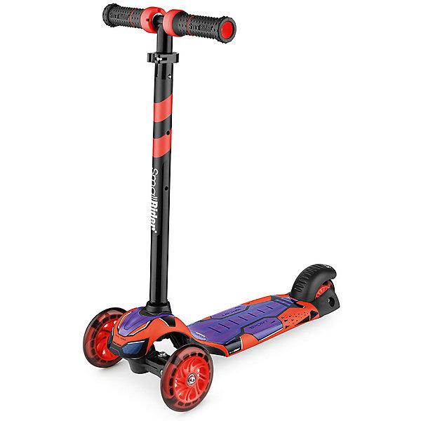 Small Rider Трёхколесный самокат со светящимися колёсами Small Rider Turbo, самокат small rider randy flash orange со светящимися колесами