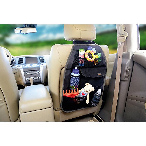 Siger Органайзер на спинку сиденья Siger ORG-4, с комбинированными карманами путешествие с ребенком топотушки органайзер на спинку сиденья