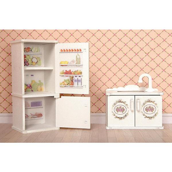 ЯиГрушка Набор мебели Одним прекрасным утром Прованс Кухня, мойка и холодильник