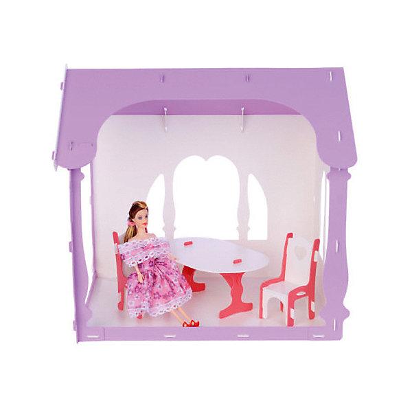 Replace and Choose Домик для кукол Летний дом Вероника, бело- с мебелью