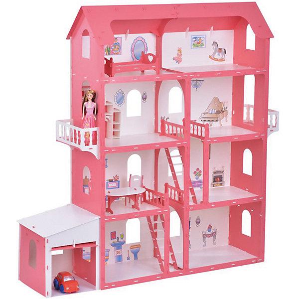 Replace and Choose Дом для кукол Коттедж Александра, бело-красный с мебелью домик для кукол дачный дом варенька бело розовый с мебелью