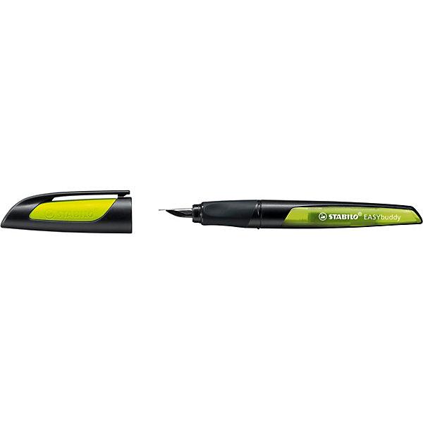 STABILO Перьевая ручка Stabilo Easybirdy, черный/лайм, синий картридж