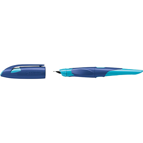 STABILO Перьевая ручка Stabilo Easybirdy для правшей, сине/голубой, синий картридж