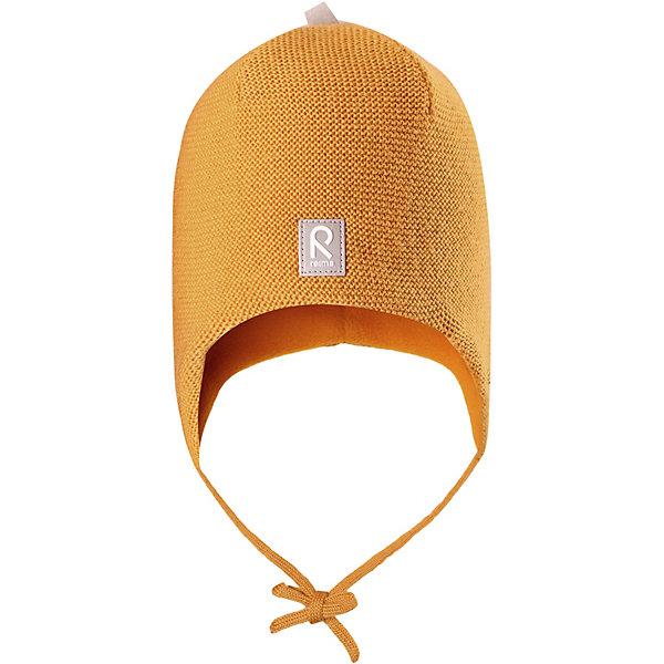 Шапка Auva Reima для мальчикаШапки и шарфы<br>Характеристики товара:<br><br>• состав: 100% шерсть <br>• подкладка: 100% полиэстер, флис <br>• сезон: зима  <br>• особенности модели: вязаная, на подкладке, на завязках <br>• мягкая ткань из мериносовой шерсти для поддержания идеальной температуры тела <br>• сплошная подкладка: мягкий флис <br>• ветронепроницаемые вставки в области ушей <br>• светоотражающая эмблема <br>• логотип Reima спереди <br>• страна бренда: Финляндия<br><br>Вязаная шапка на завязках для малышей из мериносовой шерсти подарит уют в морозную погоду: мягкая подкладка из флиса обеспечит ребенку тепло и комфорт. Шерстяная шапка с флисовой подкладкой идеально подходит для маленьких любителей приключений на свежем воздухе, ведь флис быстро сохнет и выводит влагу.<br><br>За счет эластичной вязки шапка отлично сидит, а ветронепроницаемые вставки в области ушей защищают ушки от холодного ветра. Благодаря завязкам эта стильная шапка не съезжает и хорошо защищает голову.