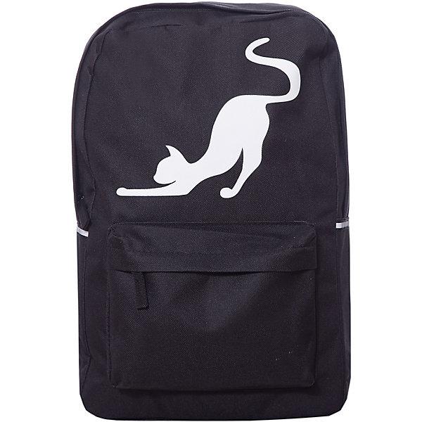Рюкзак Феникс+ Кошка, чёрныйРюкзаки<br>Характеристики:<br><br>• возраст: от 6 лет;<br>• материал: полиэстер;<br>• размер рюкзака: 42х28х11 см;<br>• количество отделений: 1;<br>• количество карманов: 1;<br>• отделка: сублимационная печать;<br>• вес упаковки: 355 гр.;<br>• размер упаковки: 43х29х4 см;<br>• страна бренда: Россия.<br><br>Подростковый рюкзак «Кошка» от бренда «Феникс+» выполнен из полиэстера, устойчив к влаге и механическому воздействию. В рюкзаке удобно носить принадлежности для учебы, для этого предусмотрено главное отделение и передний карман на скрытых молниях.<br><br>Спинка рюкзака хорошо держит форму, а сетчатый материал пропускает воздух. Лямки комфортно располагаются на плечах, при необходимости регулируются по длине. Оригинальное дополнение – рисунок на рюкзаке светится в темноте.<br><br>Рюкзак подростковый арт.46353 «Кошка» черный можно купить в нашем интернет-магазине.<br>Ширина мм: 430; Глубина мм: 290; Высота мм: 40; Вес г: 355; Цвет: черный; Возраст от месяцев: 72; Возраст до месяцев: 2147483647; Пол: Женский; Возраст: Детский; SKU: 8639270;