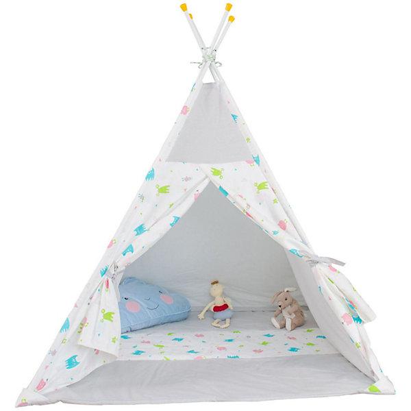 Палатка-вигвам детская Polini Монстрики, сераяИгровые палатки<br>Характеристики товара:<br><br>• возраст: от 3 лет;<br>• материал стоек: сталь;<br>• материал верха: 100% хлопок, наполнитель: 100% полиэстер;<br>• материал чехла: 100% хлопок;<br>• размер палатки: 130х130х147 см;<br>• размер упаковки: 67,1х35,1х12,1 см;<br>• вес упаковки: 5,3 кг.<br><br>Палатка-вигвам детская Polini «Монстрики» серая станет уютным местом для игр и отдыха ребенка. Палатку можно установить как дома, так и на свежем воздухе. Палатка устанавливается на 4 прочные стальные стойки, благодаря чему палатка отличается надежностью и устойчивостью конструкции. Окна и дверь палатки фиксируются открытыми при помощи завязок. Вентиляционное отверстие в верхней части обеспечивает циркуляцию и поток воздуха. Верх выполнен из мягкого натурального хлопка.<br><br>Палатку-вигвам детскую Polini «Монстрики» серую можно приобрести в нашем интернет-магазине.<br>Ширина мм: 671; Глубина мм: 351; Высота мм: 121; Вес г: 5300; Цвет: серый; Возраст от месяцев: 12; Возраст до месяцев: 144; Пол: Унисекс; Возраст: Детский; SKU: 8645851;