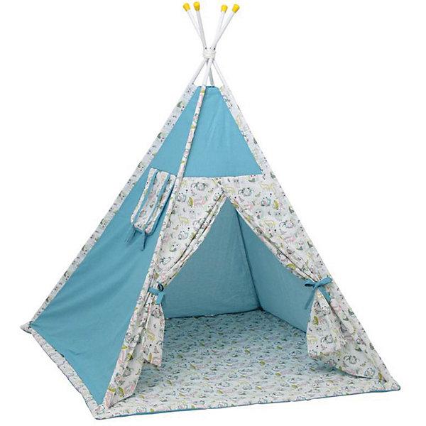 Polini-kids Палатка-вигвам детская Polini Disney Последний богатырь, лес голубой
