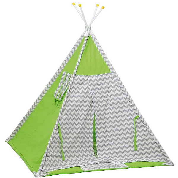 Polini-kids Палатка-вигвам детская Polini Зигзаг, зеленая цена 2017