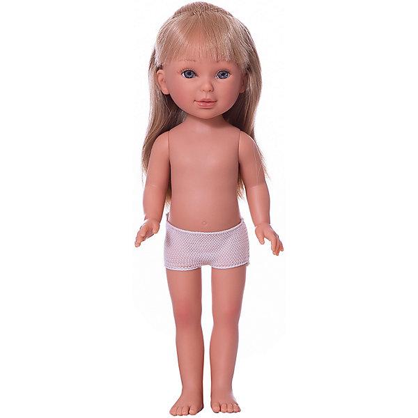 Vestida de Azul Кукла Vestida de Azul Паулина блондинка с прямыми волосами без чёлки, 33 см