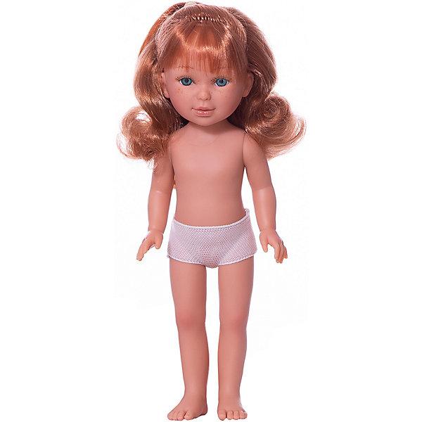 Vestida de Azul Кукла Vestida de Azul Паулина с медными волнистыми волосами, 33 см