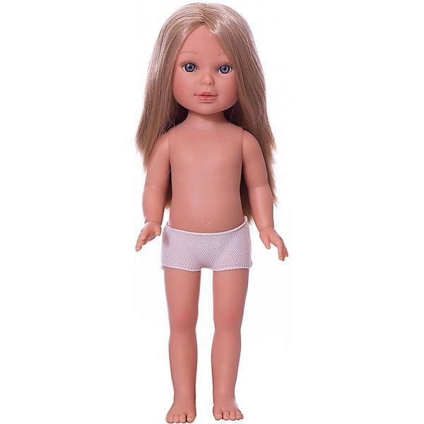 Vestida de Azul Кукла Vestida de Azul Паулина блондинка с волнистыми волосами без чёлки, 33 см
